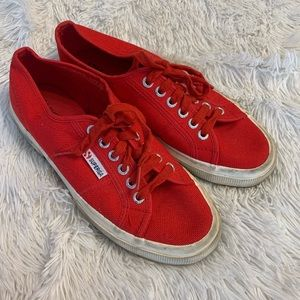 Superga red sneakers